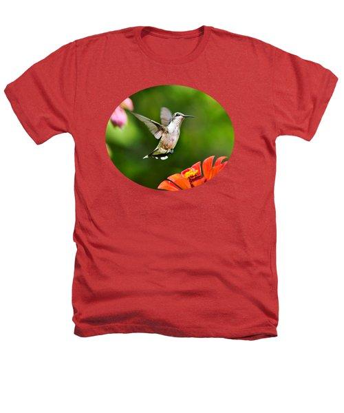 Shimmering Breeze Hummingbird Heathers T-Shirt by Christina Rollo