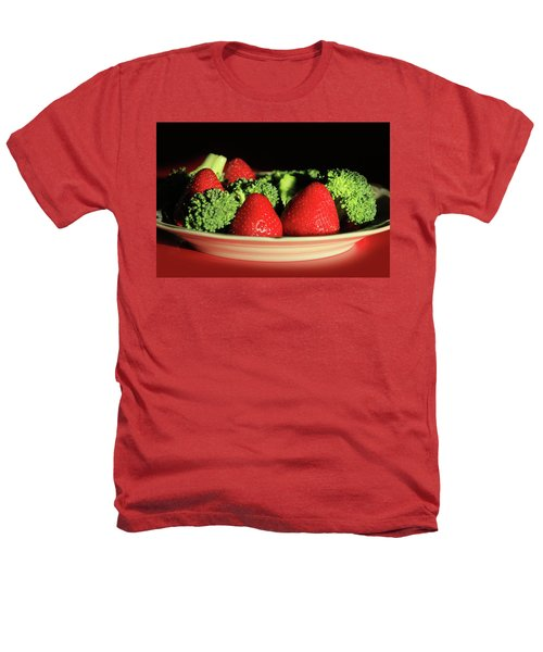 Strawberries And Broccoli Heathers T-Shirt by Lori Deiter