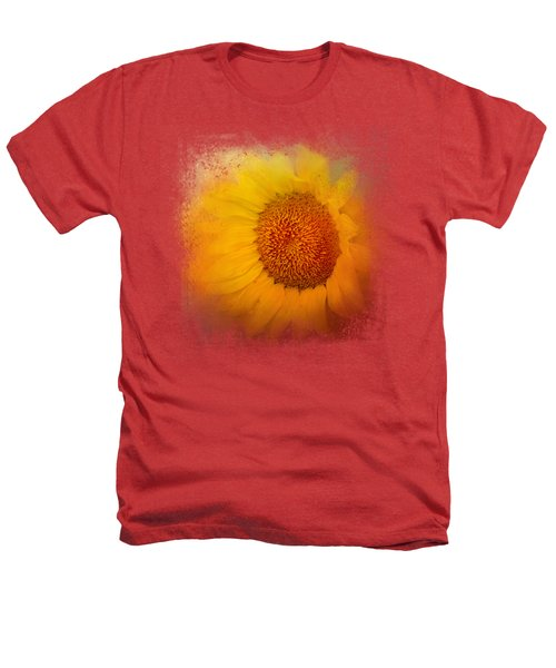 Sunflower Surprise Heathers T-Shirt by Jai Johnson