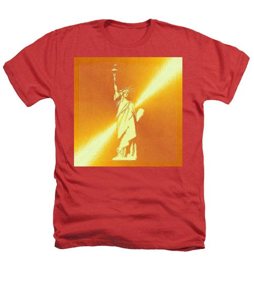 Sunstrike On Statue Of Liberty Heathers T-Shirt by Clive Littin