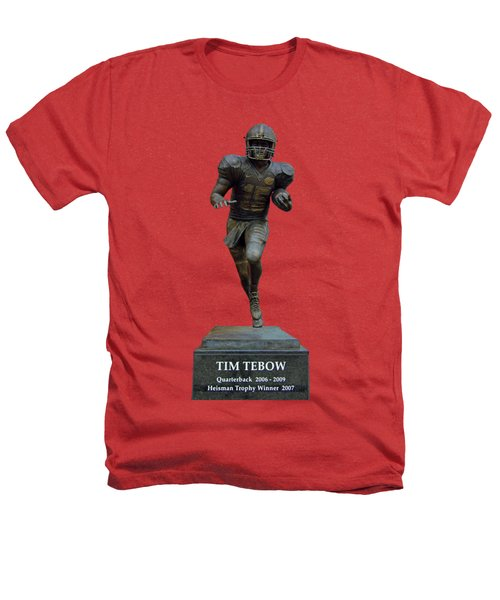 Tim Tebow Transparent For Customization Heathers T-Shirt by D Hackett