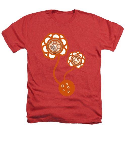 Two Orange Flowers Heathers T-Shirt by Frank Tschakert