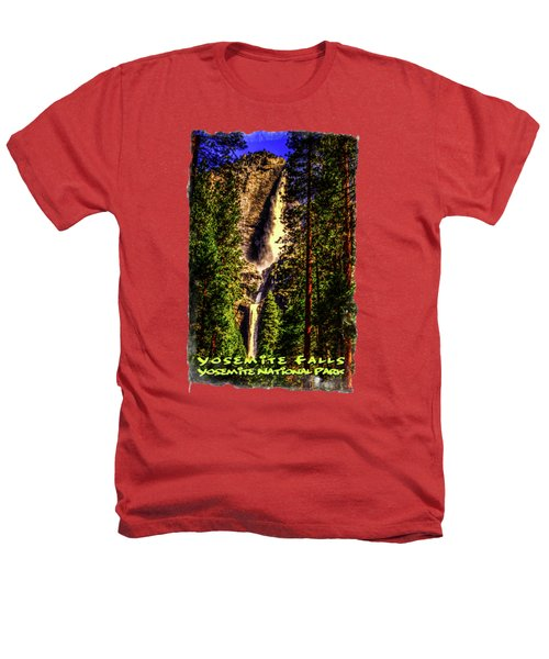 Yosemite Falls Framed By Ponderosa Pines Heathers T-Shirt by Roger Passman