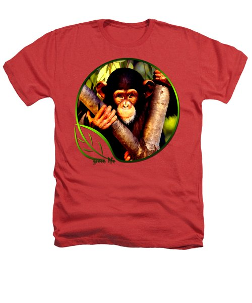 Young Chimpanzee Heathers T-Shirt by Dan Pagisun