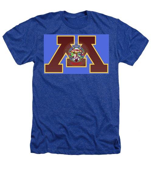U Of M Minnesota State Flag Heathers T-Shirt by Daniel Hagerman