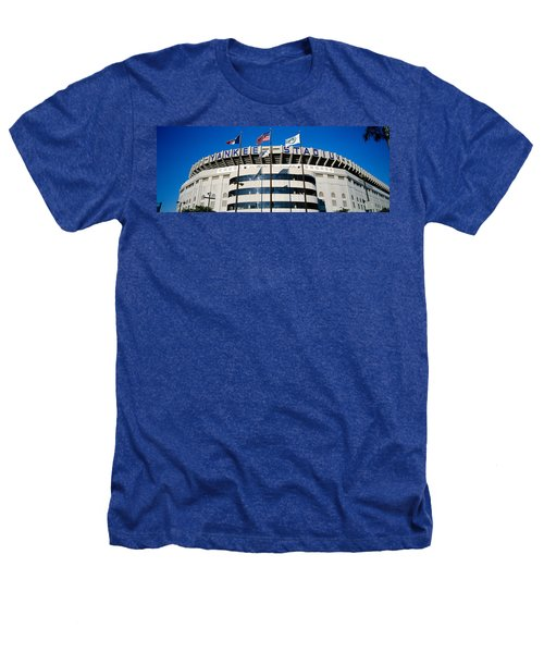 Flags In Front Of A Stadium, Yankee Heathers T-Shirt by Panoramic Images