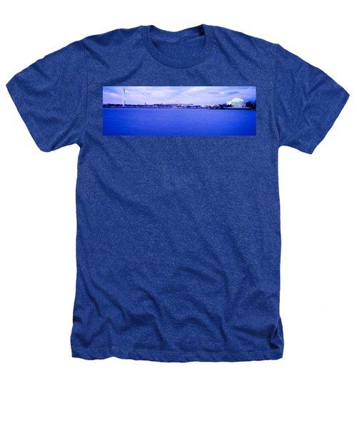 Tidal Basin Washington Dc Heathers T-Shirt by Panoramic Images