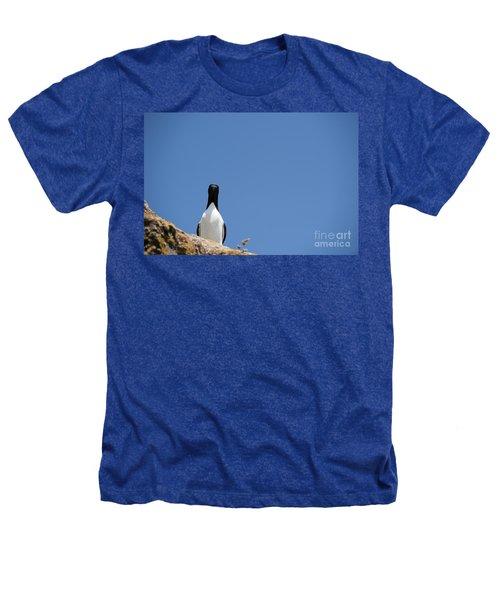 A Curious Bird Heathers T-Shirt by Anne Gilbert