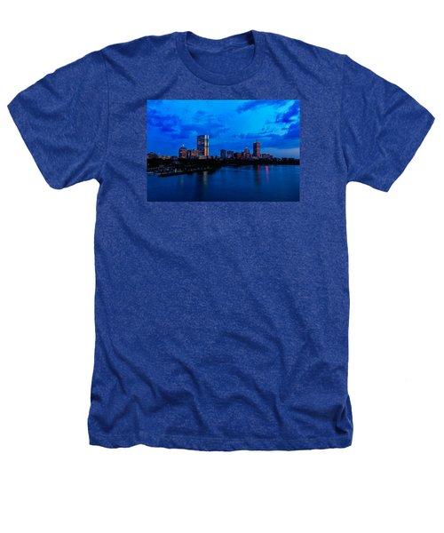 Boston Evening Heathers T-Shirt by Rick Berk