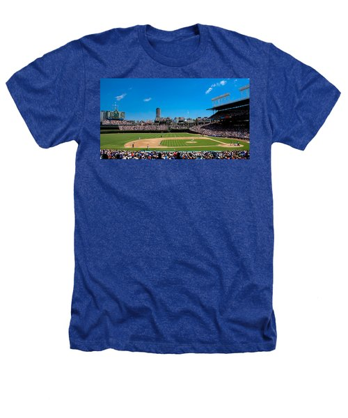 Day Game At Wrigley Field Heathers T-Shirt by Anthony Doudt