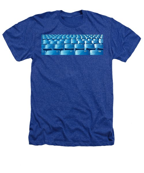 Empty Blue Seats In A Stadium, Soldier Heathers T-Shirt by Panoramic Images