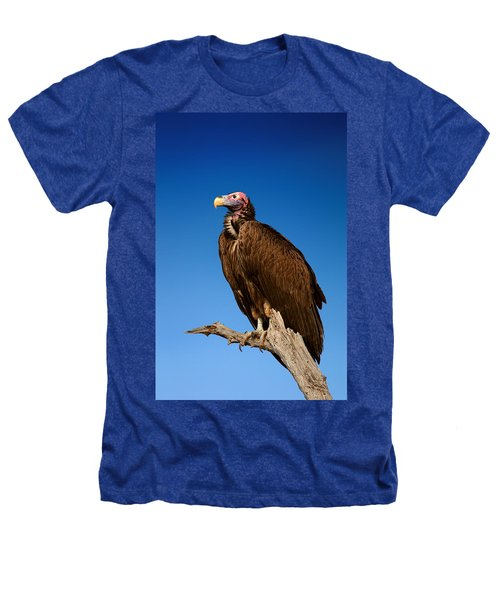 Lappetfaced Vulture Against Blue Sky Heathers T-Shirt by Johan Swanepoel