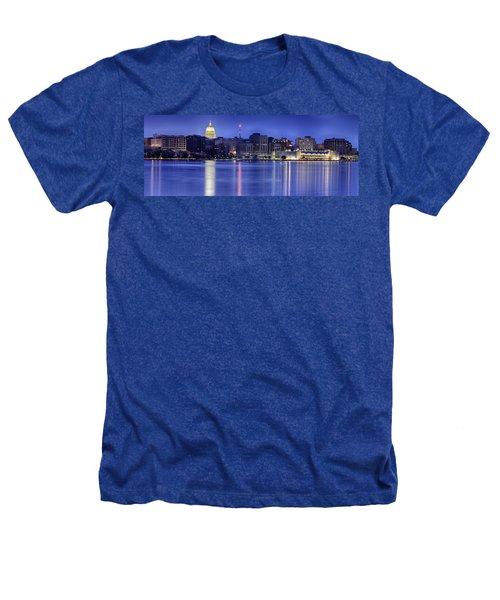 Madison Skyline Reflection Heathers T-Shirt by Sebastian Musial
