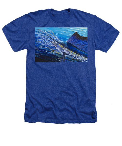 Sail On The Reef Off0082 Heathers T-Shirt by Carey Chen