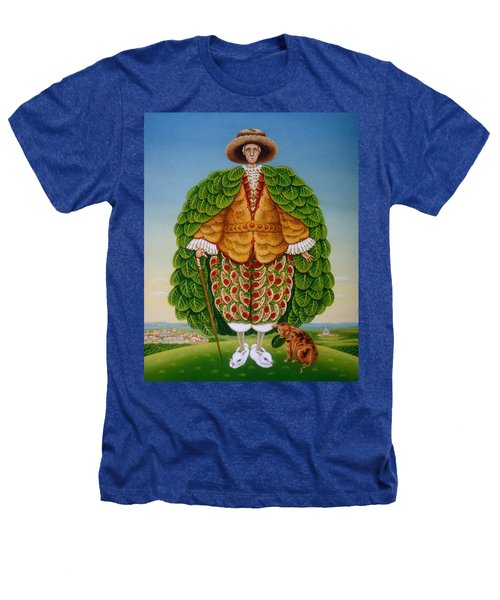The New Vestments Ivor Cutler As Character In Edward Lear Poem, 1994 Oils And Tempera On Panel Heathers T-Shirt by Frances Broomfield