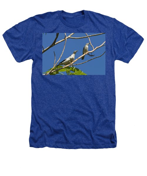 White-headed Starlings Havelock Isl Heathers T-Shirt by Konrad Wothe