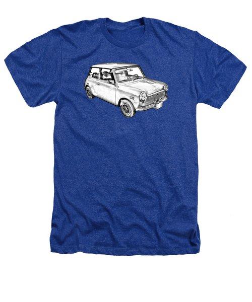 Mini Cooper Illustration Heathers T-Shirt by Keith Webber Jr