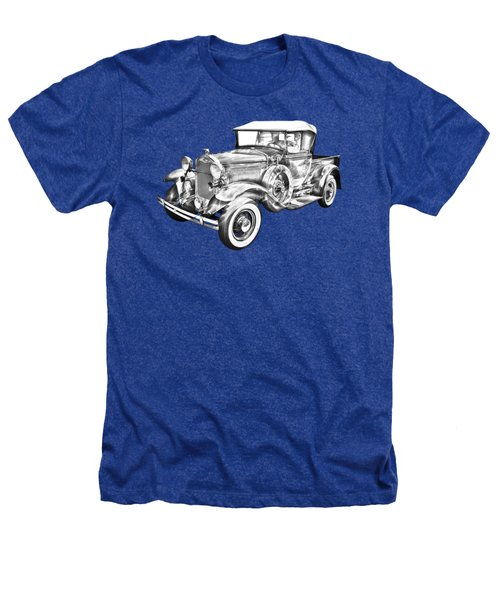 1930 Ford Model A Pickup Truck Illustration Heathers T-Shirt by Keith Webber Jr