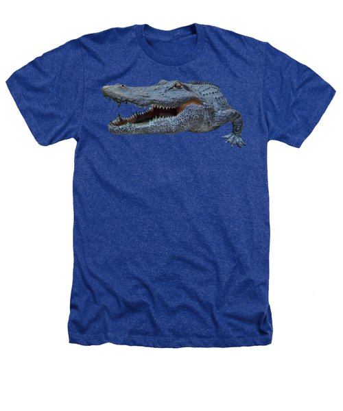1998 Bull Gator Up Close Transparent For Customization Heathers T-Shirt by D Hackett