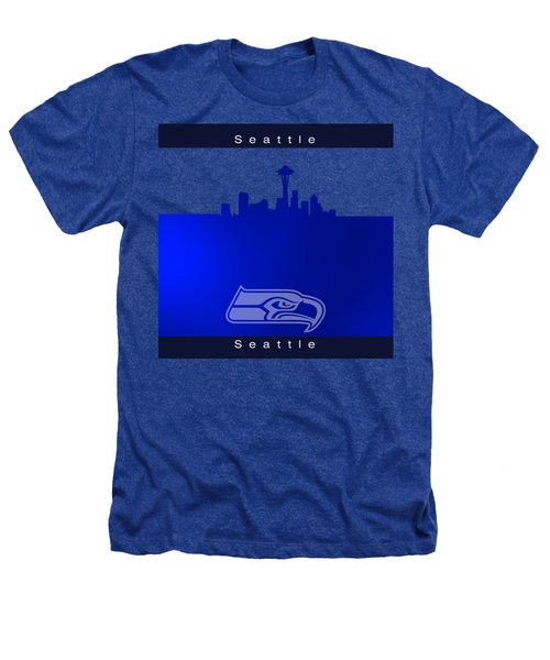 Seattle Seahawks Skyline Heathers T-Shirt by Alberto RuiZ