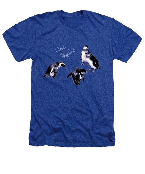 Cute Penguins Heathers T-Shirt by Pennie  McCracken