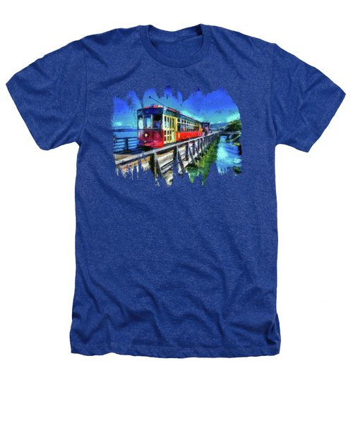 Astoria Riverfront Trolley Heathers T-Shirt by Thom Zehrfeld