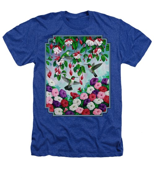 Bird Painting - Hummingbird Heaven Heathers T-Shirt by Crista Forest