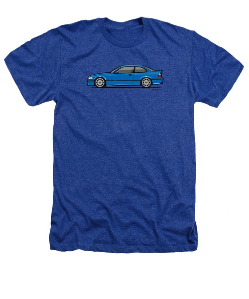 Bmw 3 Series E36 M3 Coupe Estoril Blue Heathers T-Shirt by Monkey Crisis On Mars