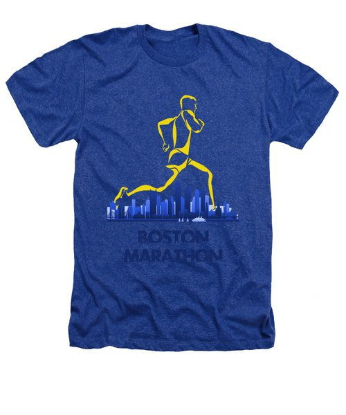 Boston Marathon5 Heathers T-Shirt by Joe Hamilton