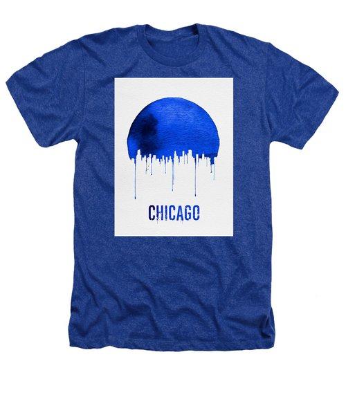 Chicago Skyline Blue Heathers T-Shirt by Naxart Studio
