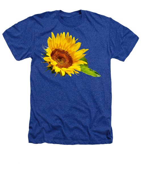 Color Me Happy Sunflower Heathers T-Shirt by Christina Rollo