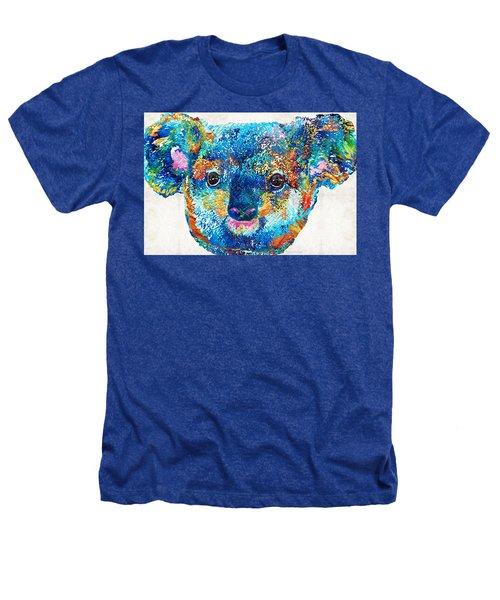 Colorful Koala Bear Art By Sharon Cummings Heathers T-Shirt by Sharon Cummings