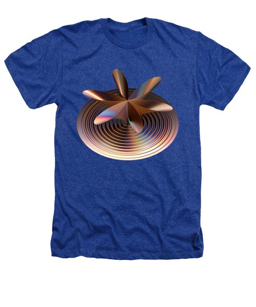 Copper Tones Heathers T-Shirt by Linda Phelps