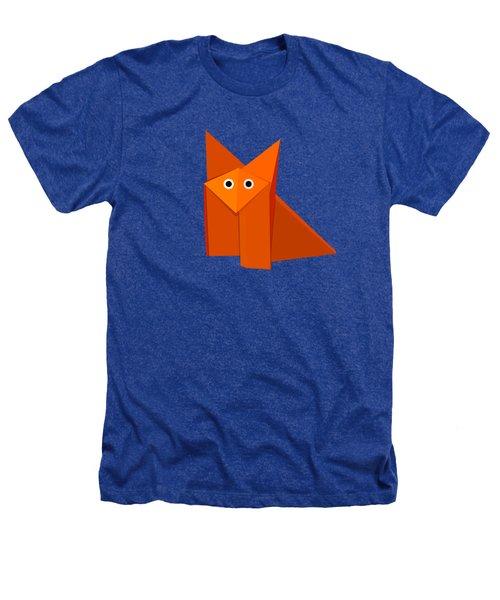 Cute Origami Fox Heathers T-Shirt by Boriana Giormova