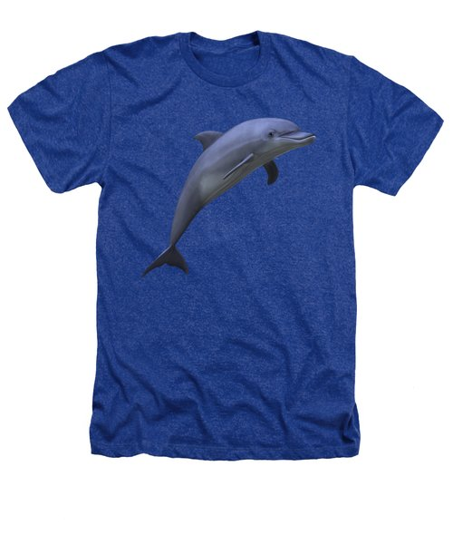 Dolphin In Ocean Blue Heathers T-Shirt by Movie Poster Prints
