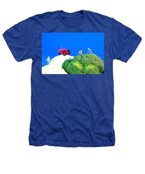 Farming On Broccoli And Cauliflower II Heathers T-Shirt by Paul Ge