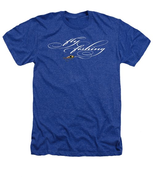 Fly Fishing Nymph Heathers T-Shirt by Rob Corsetti