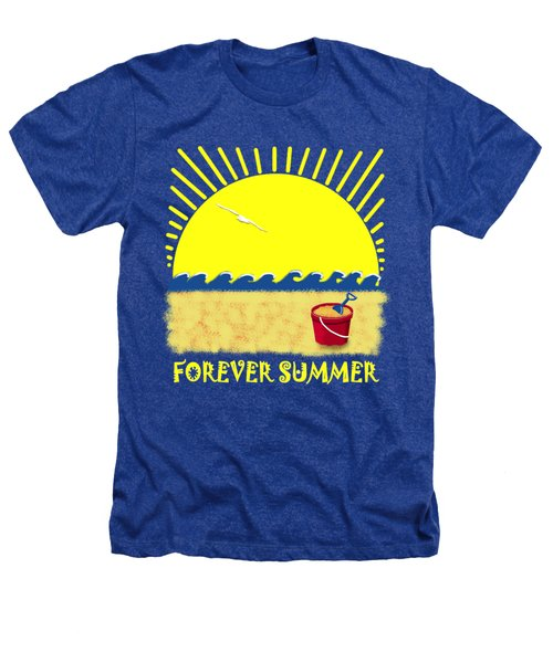 Forever Summer 8 Heathers T-Shirt by Linda Lees
