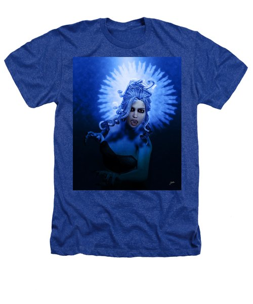 Gorgon Blue Heathers T-Shirt by Joaquin Abella