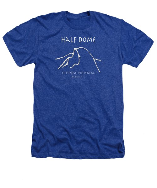 Half Dome Heathers T-Shirt by Fran Riley