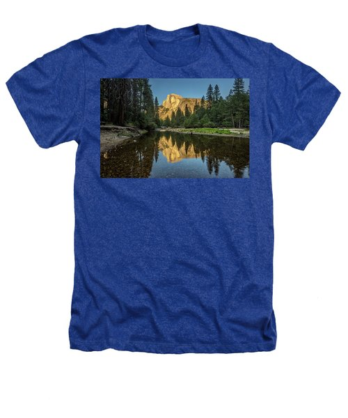 Half Dome From  The Merced Heathers T-Shirt by Peter Tellone