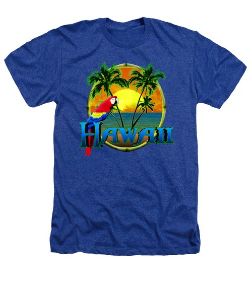 Hawaii Parrot Heathers T-Shirt by Chris MacDonald