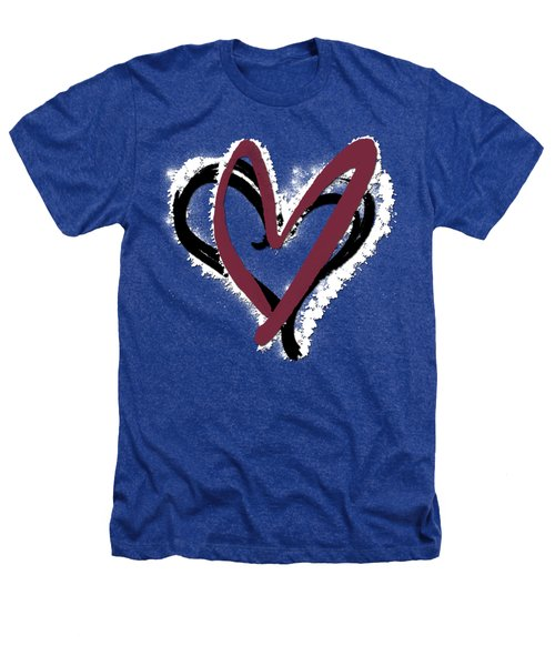 Hearts Graphic 6 Heathers T-Shirt by Melissa Smith