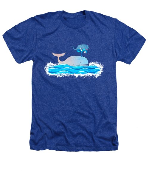 How Whales Have Fun Heathers T-Shirt by Shawna Rowe