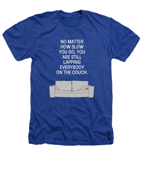 Lap The Couch Heathers T-Shirt by Nancy Ingersoll