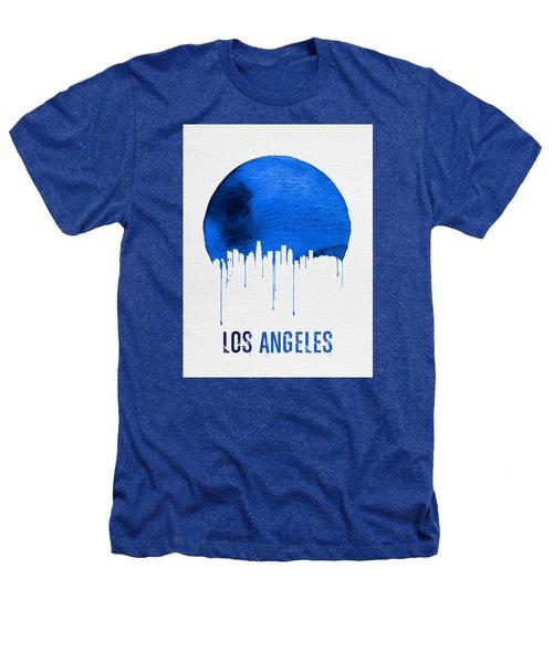 Los Angeles Skyline Blue Heathers T-Shirt by Naxart Studio