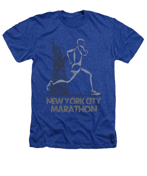 New York City Marathon3 Heathers T-Shirt by Joe Hamilton