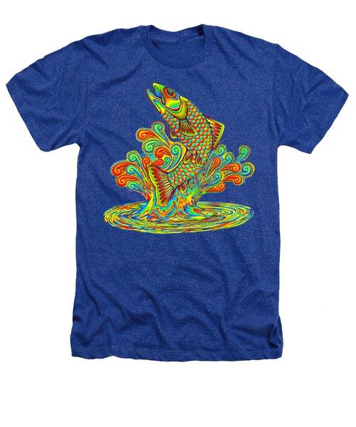 Rainbow Trout Heathers T-Shirt by Rebecca Wang
