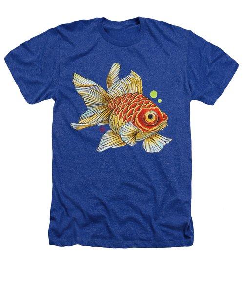 Red Telescope Goldfish Heathers T-Shirt by Shih Chang Yang