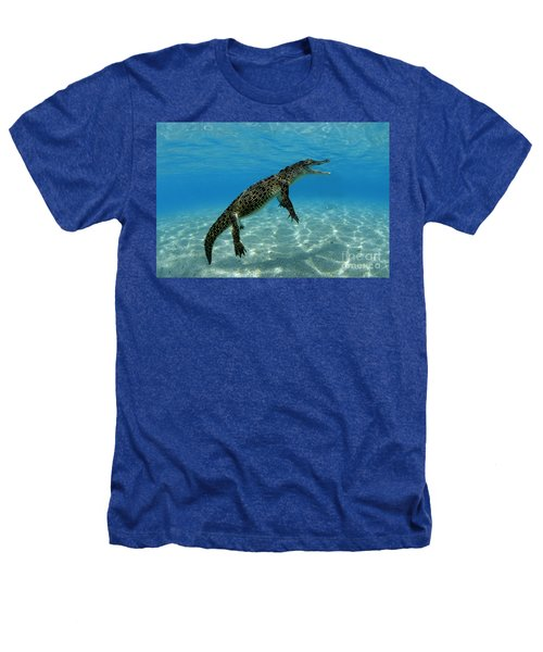 Saltwater Crocodile Heathers T-Shirt by Franco Banfi and Photo Researchers
